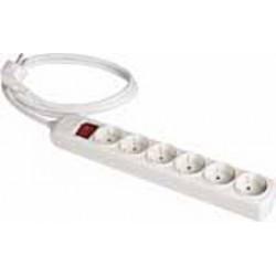Base múltiple con cable e interruptor